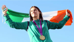 pics jim walpole star 13/08/2012 pic of boxer katie taylor with her gold medal at her homecoming in bray county wicklow.