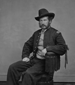 Edward Paul Doherty was an American Civil War officer who formed and led the detachment of soldiers that captured and killed John Wilkes Booth, the assassin of United States President Abraham Lincoln, in a Virginia barn on April 26, 1865, twelve days after Lincoln was fatally shot. (Photo by Matthew Brady/Buyenlarge/Getty Images)
